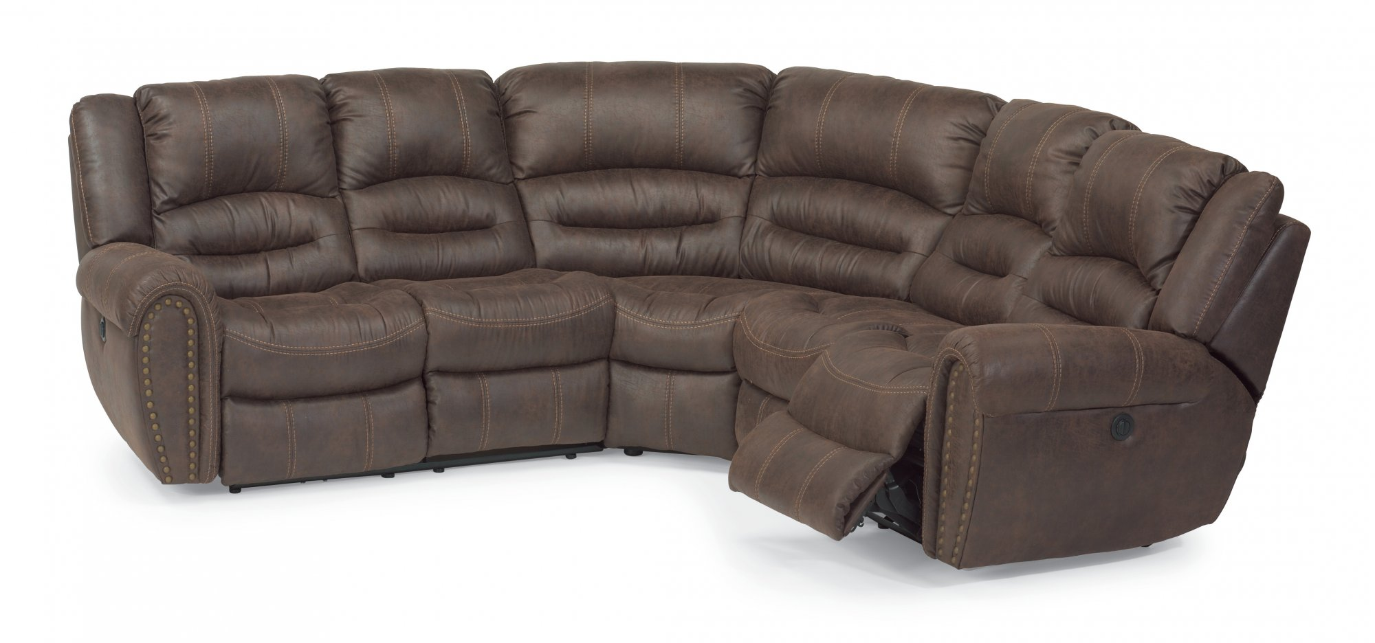 Sectional Couches And Sofas Flexsteel Sectionals - Sofa leather and fabric combined
