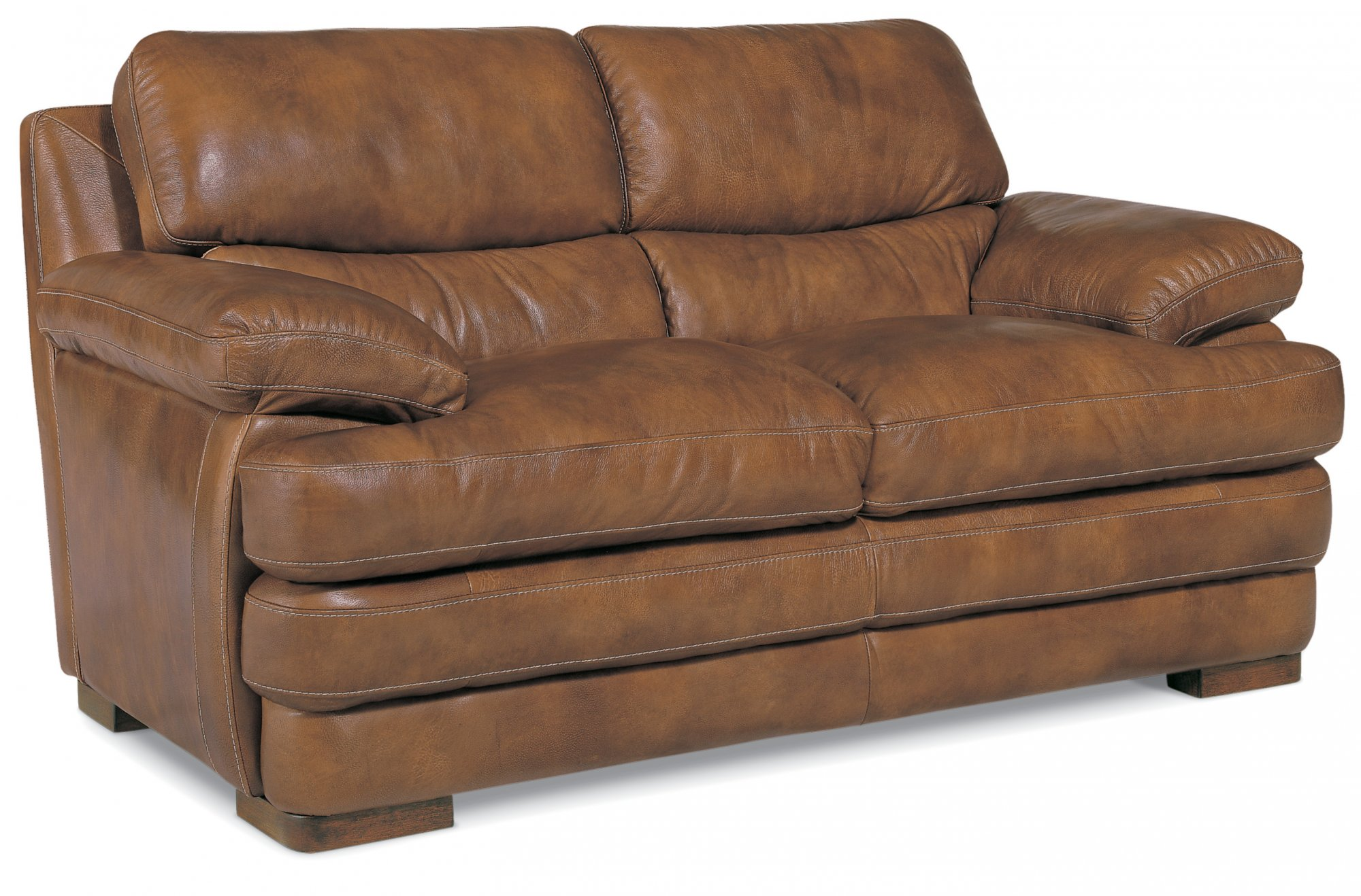 leather loveseat without nailhead trim