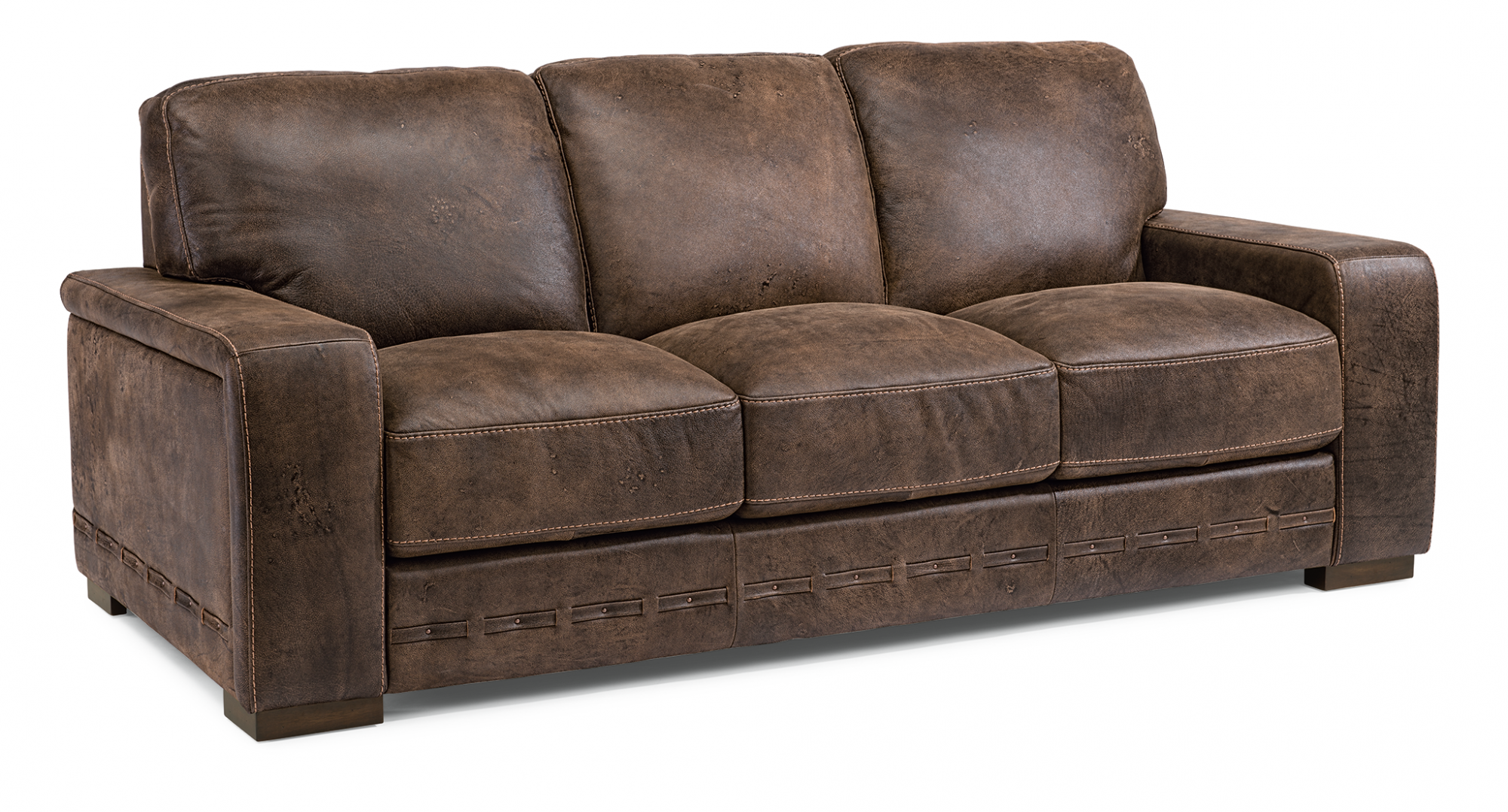 Sofas And Loveseats Reclining Sofas And Sleepers Flexsteel - Brushed leather sofa 2