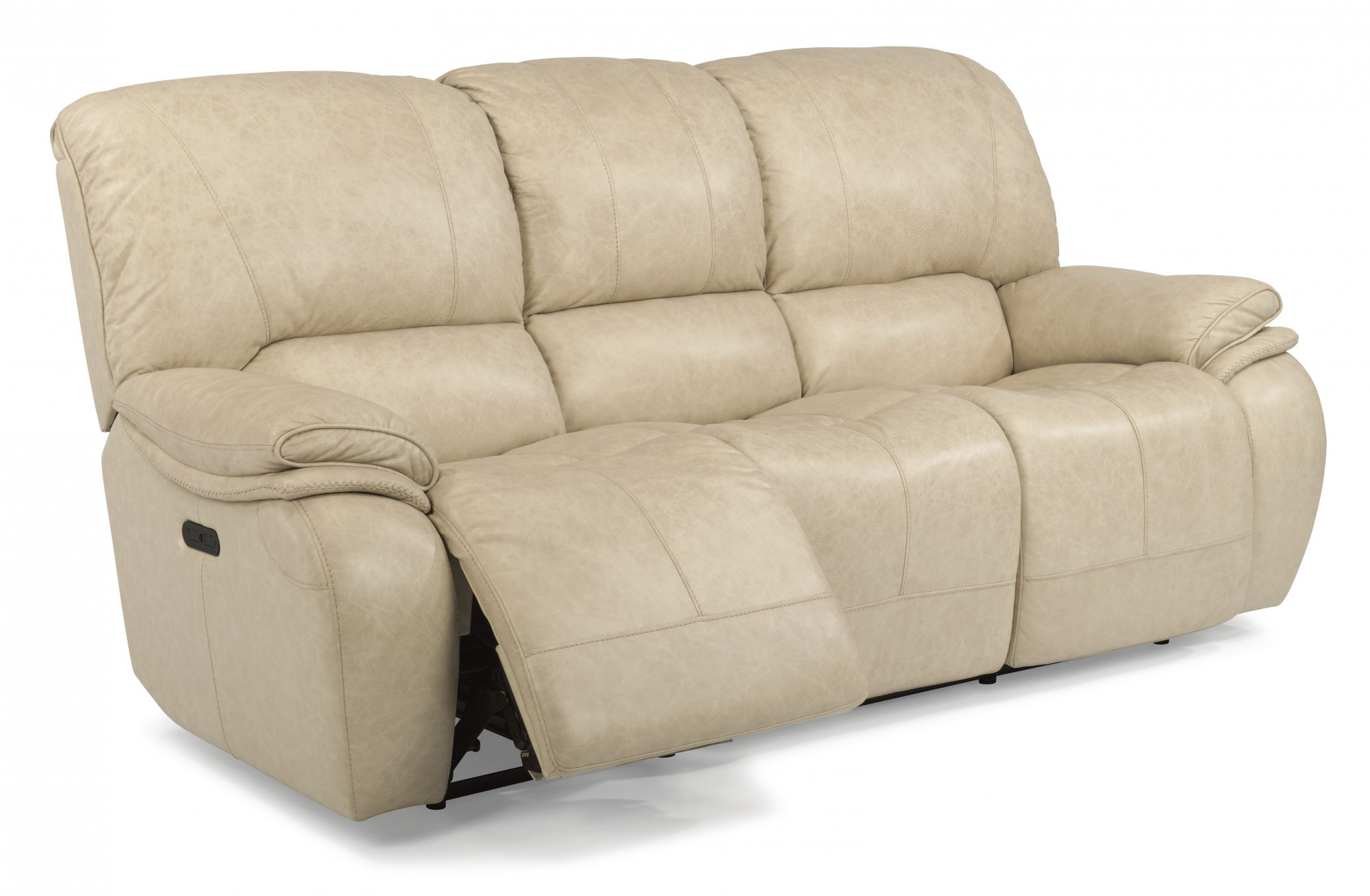 sofas and loveseats  reclining sofas and sleepers  flexsteel - leather power reclining sofa with power headrests