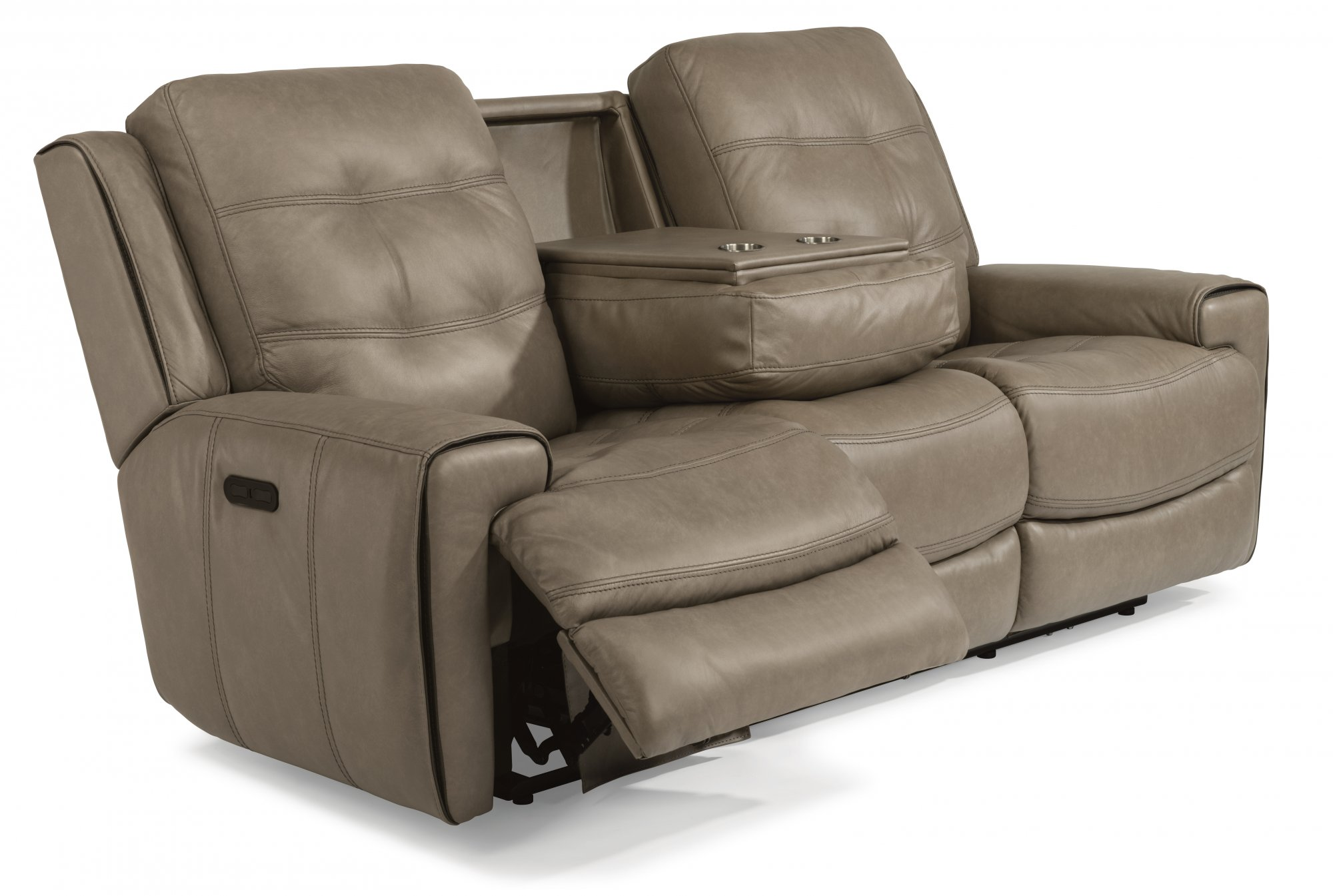 loveseat dual full leather reclining with grey real sofa sofas brown recliner of chair size power fabric