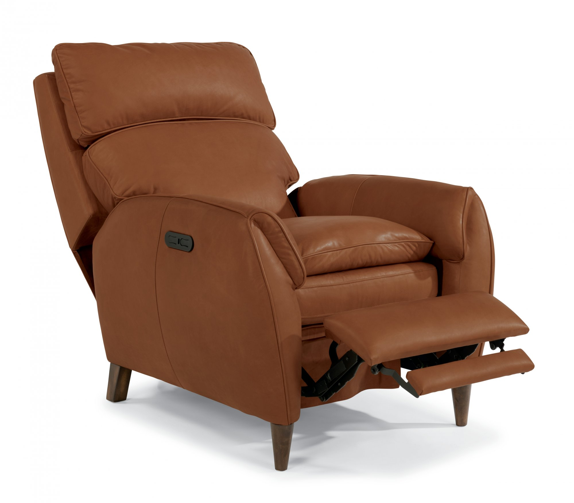 leather power highleg recliner with power headrest - Electric Recliner Chairs