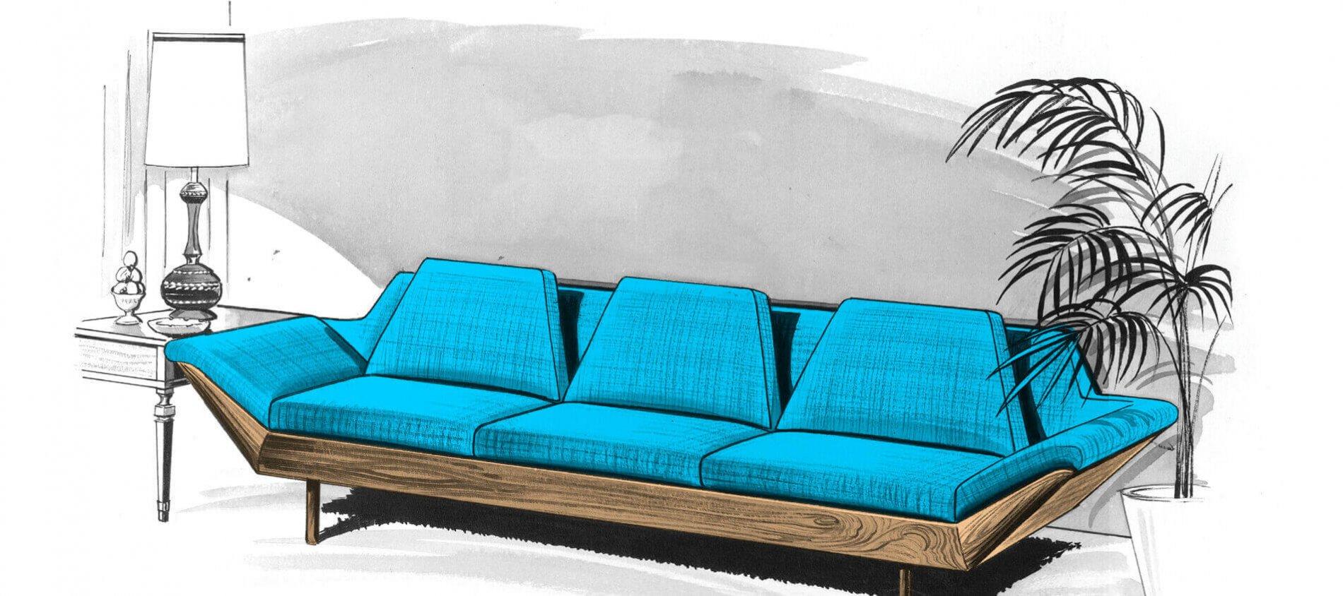 The Thunderbird Sofa is Back! | Flexsteel\'s Mid-century ...