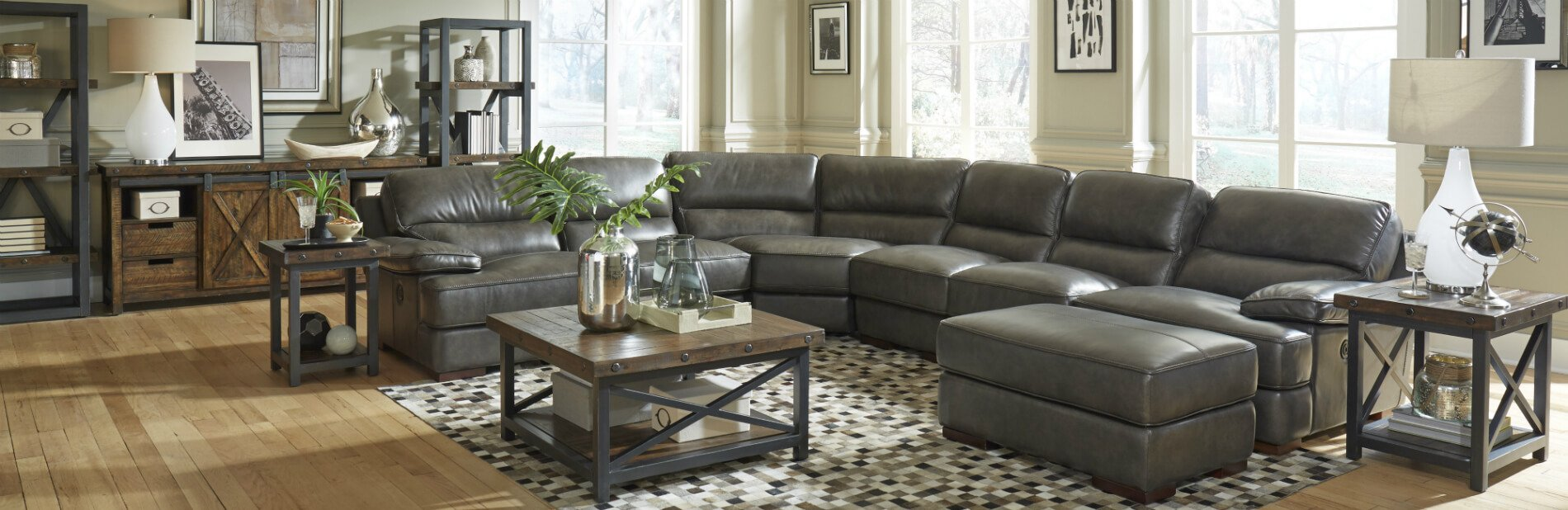 Jade Sectional Leather Furniture