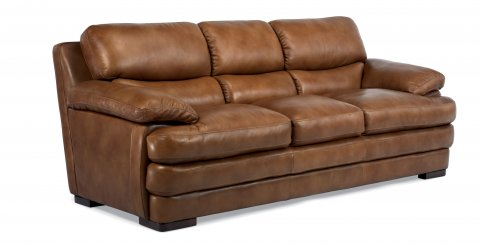 Dylan Leather Three-Cushion Sofa 1127-31 in 908-80