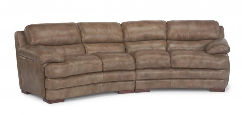 Dylan Leather Conversation Sofa without Nailhead Trim 1127-325 | 1127-326 in 908-02