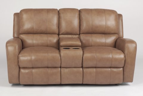Hammond Leather Power Reclining Loveseat with Console 1157-604P in 555-74