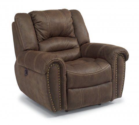 New Town Fabric Power Recliner 1410-50P in 136-70