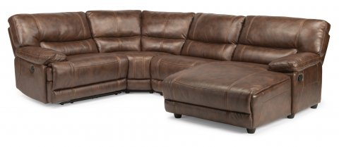 Delia Power Reclining Sectional 1458-SECTP shown with 25, 23, 59P, & 59P pieces in 580-72