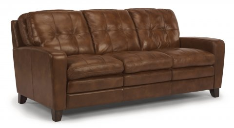 South Street Leather Sofa 1644-31 in 014-75
