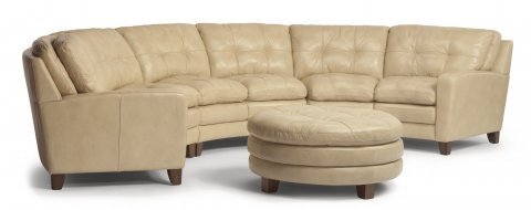 South Street Leather Sectional shown with 27, 29, 28, & 094 pieces in 014-11