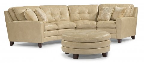 South Street Leather Sectional shown with 27, 28, & 094 pieces in 014-11 | Pillows are not included