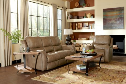 Hammond Leather Power Reclining Sofa Lifestyle