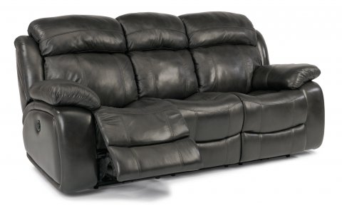 Como Leather Power Reclining Sofa 1409-62P in 006-02