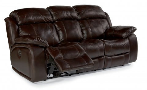 Como Leather Power Reclining Sofa 1409-62P in 006-72