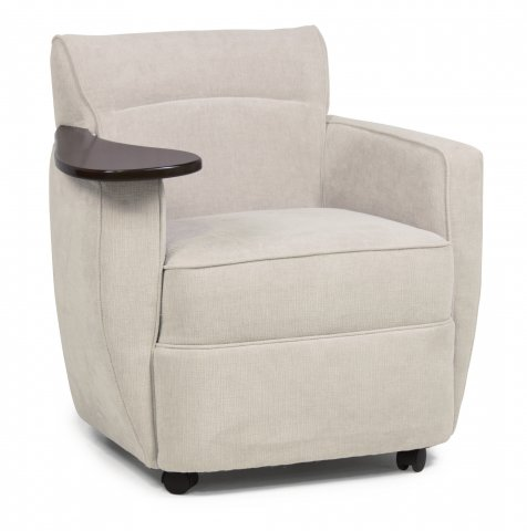 Upholstered Armchair Flexsteel Tablet Chair With Rotating Arm