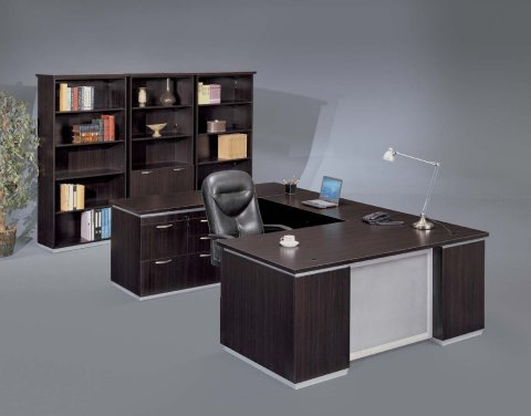 gray office desk ikea left personal file desk with frosted glass modesty panel desks hutches flexsteelcom