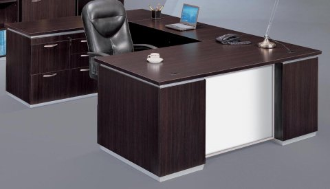 gray office desk ikea left personal file desk with white glass modesty panel desks hutches flexsteelcom
