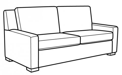 Bassert Queen Sleeper Sofa CA842-44