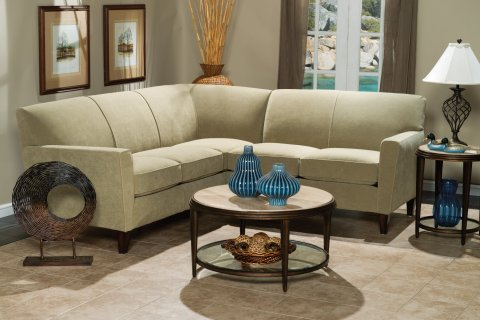 Enjoyable Digby Leather High Leg Sectional Flexsteel For Home Gmtry Best Dining Table And Chair Ideas Images Gmtryco
