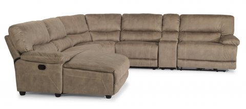 Delia Power Reclining Sectional 1458-SECTP shown with 25, 59P, 23, 19, 72, & 58P pieces in 589-72