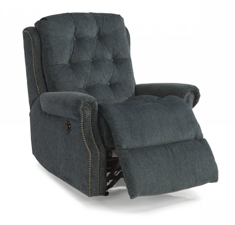 Delicieux Fabric Power Rocking Recliner