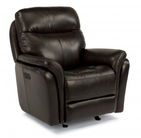 Zoey Leather Power Gliding Recliner 1653-54P in 360-70