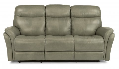 Zoey Leather Power Reclining Sofa 1653-62P in 360-01