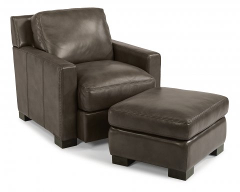 Blake Leather Chair 1369-10 & Ottoman 1369-08 in 014-07