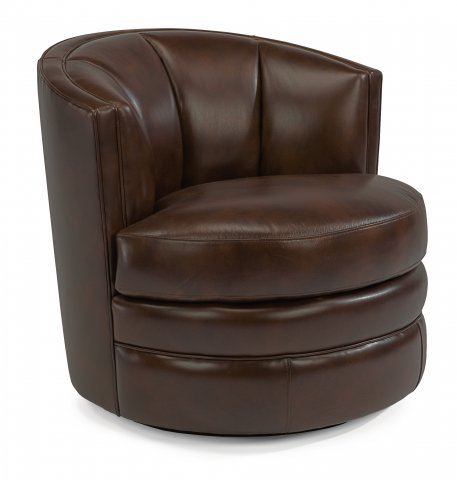 Willa Leather Swivel Chair 1621-11 in LSP-76