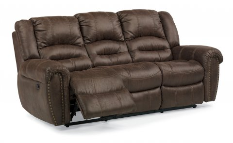 New Town Fabric Power Reclining Sofa 1410-62P in 136-70