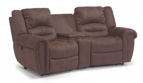 New Town Fabric Power Reclining Sectional 1410-SECTP shown with 57P, 70, & 58P pieces in 136-70