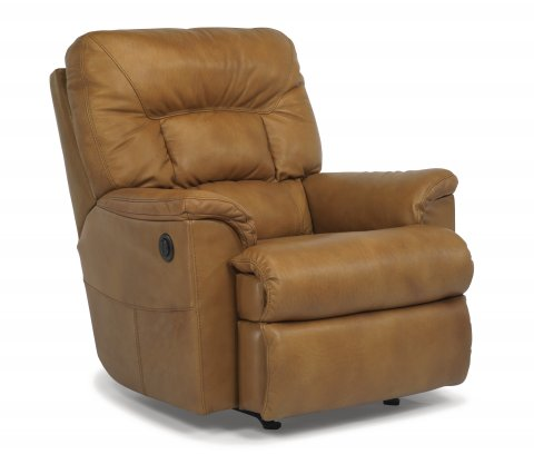 Great Escape Leather Power Recliner 1221-500P in 418-72
