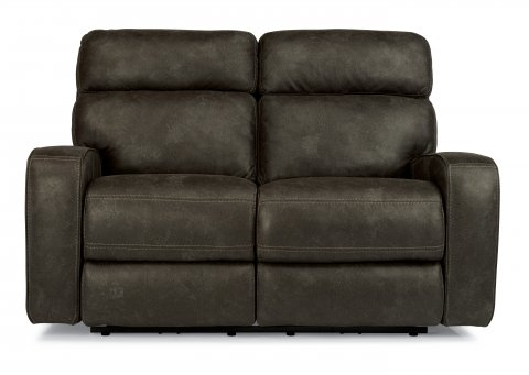 Tomkins Fabric Power Reclining Loveseat with Power Headrests 1326-60PH in 167-02