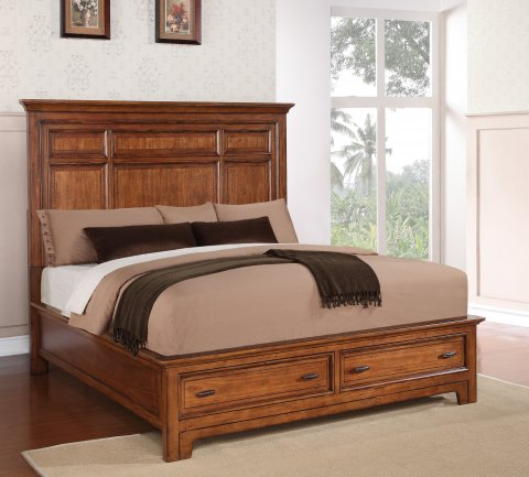 River Valley Queen Panel Bed with Storage W1572-90QS