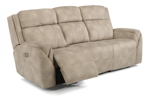 Awesome Finest Fabric Power Reclining Sofa With Power Headrests With Feagans  Furniture Store