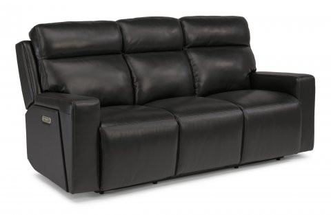 Niko Leather Power Reclining Sofa with Power Headrests 1181-62PH in 482-00
