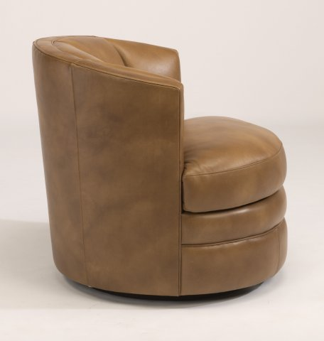 Willa Leather Swivel Chair 1621-11 in LSP-82