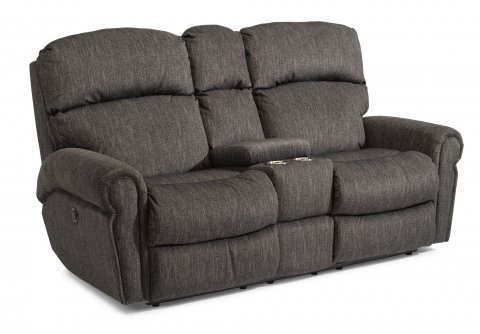 Langston Power Reclining Loveseat with Console 4504-601M in 438-02