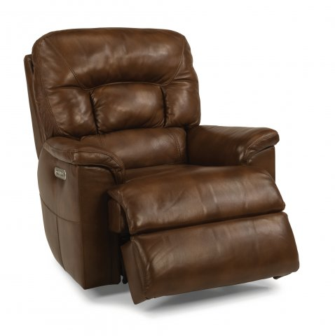 Great Escape Leather Power Gliding Recliner with Power Headrest 1221-54PH in 418-75