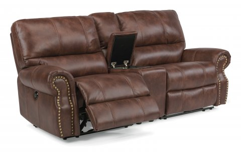 Carlton Fabric Power Reclining Loveseat with Console 1672-604P in 220-72