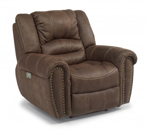 New Town Fabric Power Recliner with Power Headrests 1410-50PH in 136-70