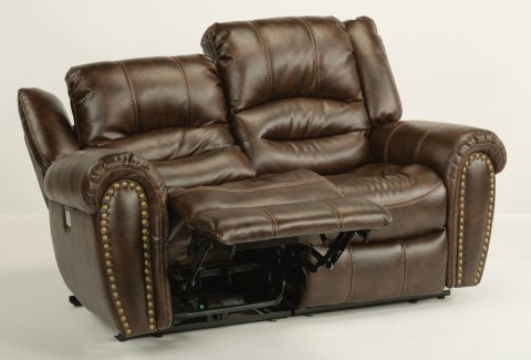 Downtown Fabric Power Reclining Loveseat with Power Headrests 1710-60PH in 220-70