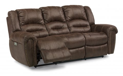 New Town Fabric Power Reclining Sofa with Power Headrests 1410-62PH in 136-70