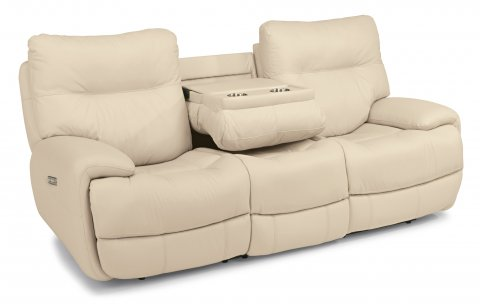 Evian Leather Power Reclining Sofa with Power Headrests 1447-62PH in 675-12