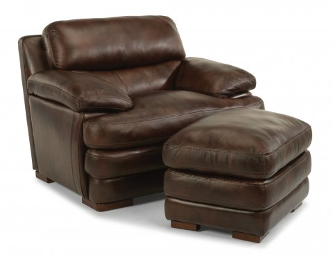 Dylan Leather Chair 1127-10 & Ottoman 1127-08 in 908-72