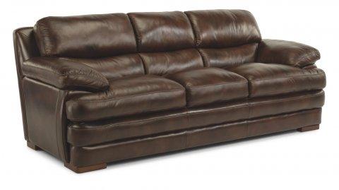 Dylan Leather Three-Cushion Sofa 1127-31 in 908-72