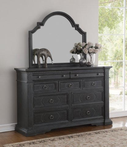 Charleston Dresser W1061-860 & Mirror W1061-880