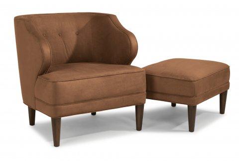 Etta Fabric Chair 0188-10 & Ottoman 0188-08 in 732-54