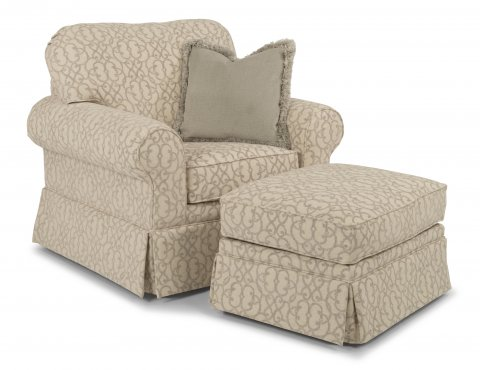 Camilla Chair 5537-10 and Ottoman 5537-08 in 706-01